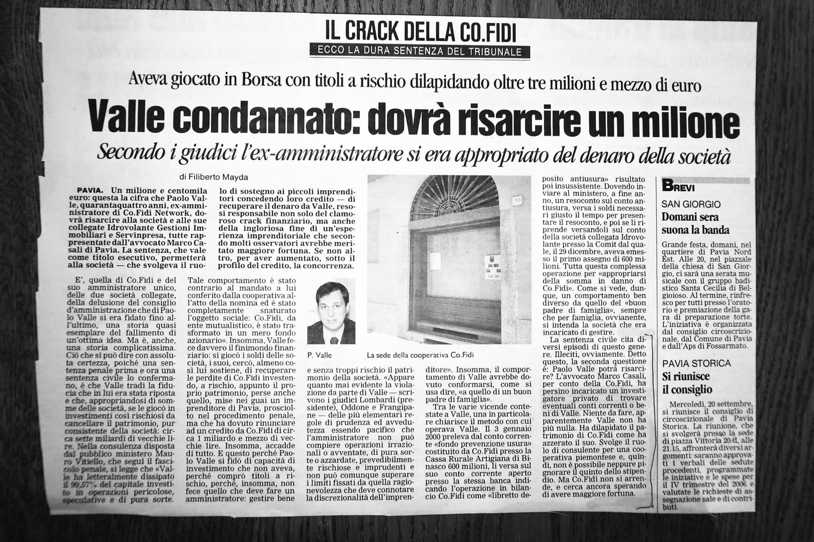 Articolo di giornale su Currenti Investigazioni Pavia foto 3